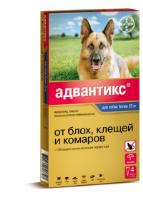 Адвантикс для собак свыше 25 кг раствор КАПЛИ на холку пипетка 4 мл