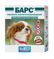 Барс ОШЕЙНИК от блох и клещей для собак мелких пород 35см