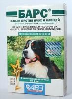 Барс для собак более 30кг раствор КАПЛИ на холку инсектоакарицидные