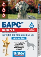 Барс ФОРТЕ, КАПЛИ инсектоакарицидные для собак